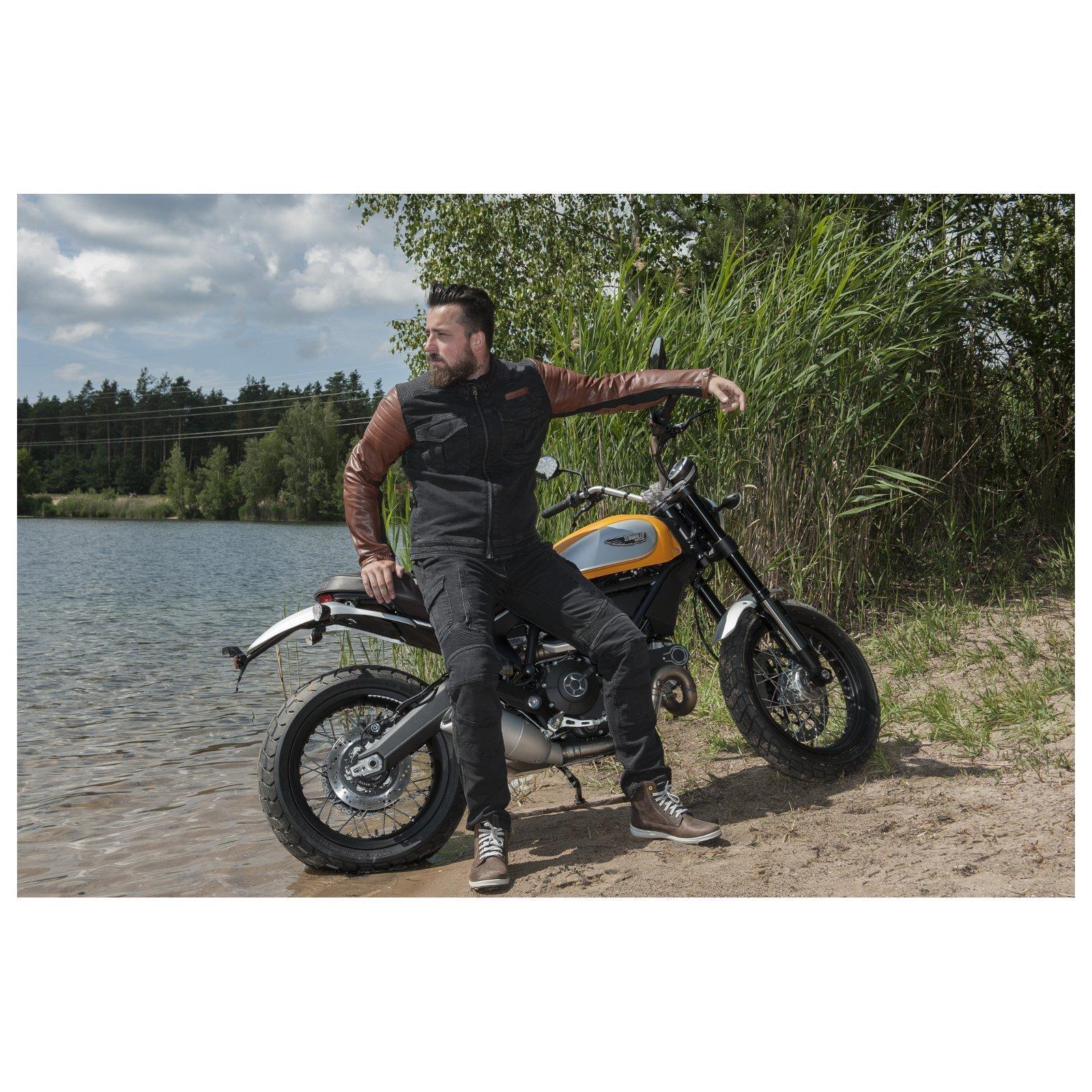 Trilobite-Pantaloni-Moto-Jeans-Abbigliamento-Parado-MICAS-URBAN-DUAL-PANTS-ACID miniatura 36