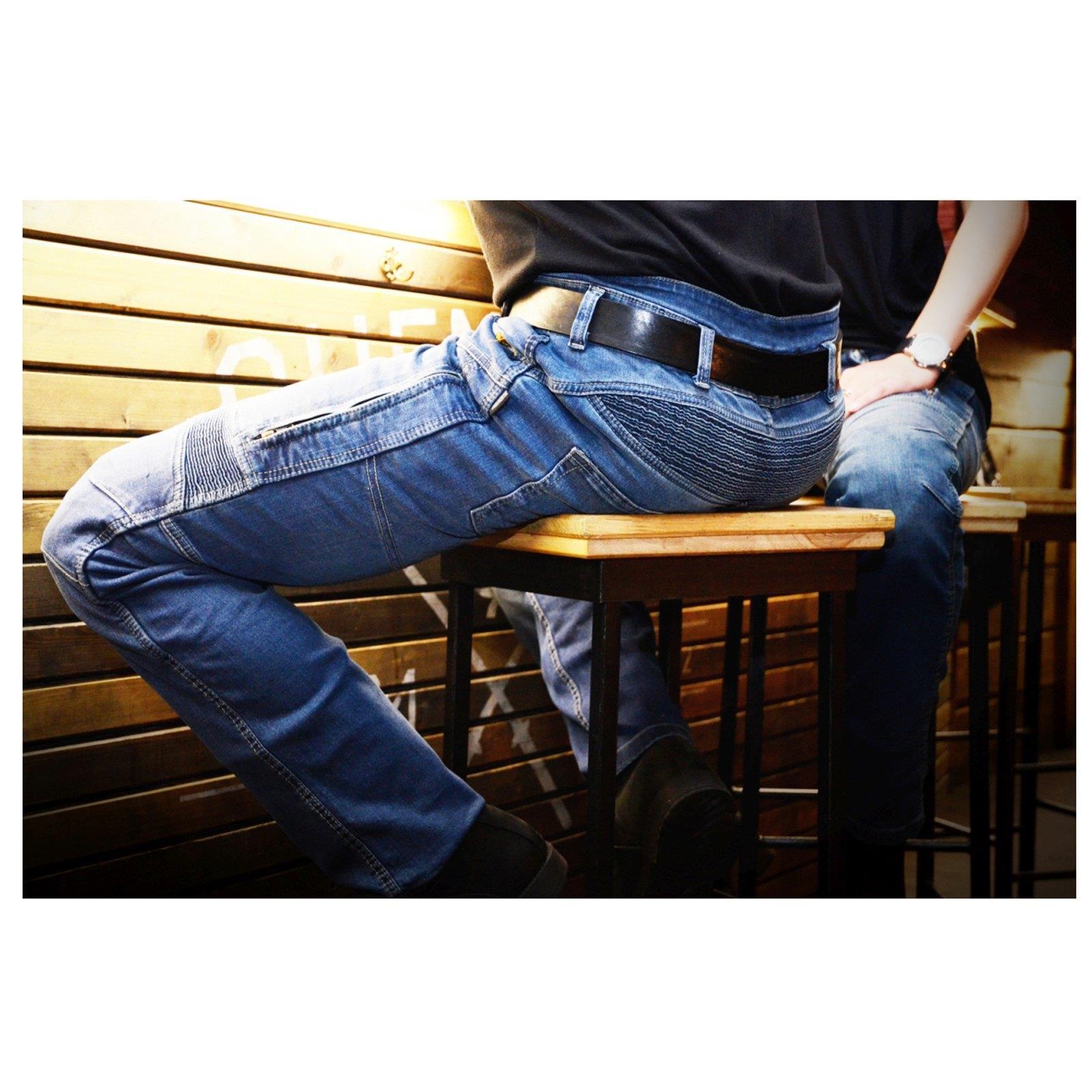 Trilobite-paradoxale-veste-pantalon-protecteur-incl-d-039-aramide-Moto-Jeans-Hommes-Femmes miniature 28